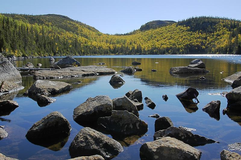 Lac Pioui, sentier du Mont du Lac des Cygnes - Parc national des Grands-Jardins, Québec