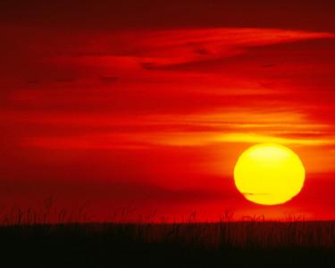 Coucher de soleil - Parc régional de Pointe-aux-Outardes