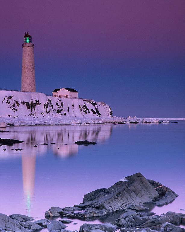 Phare de Cap-des-Rosiers, plus haut phare au Canada - Parc national Forillon, Québec