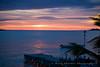 Bonaire sunset view from the Den Laman Condominiums and Bonaire Dive & Adventure dock at Bari reef