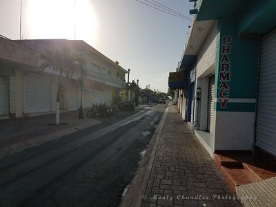 Cozumel side street - morning time