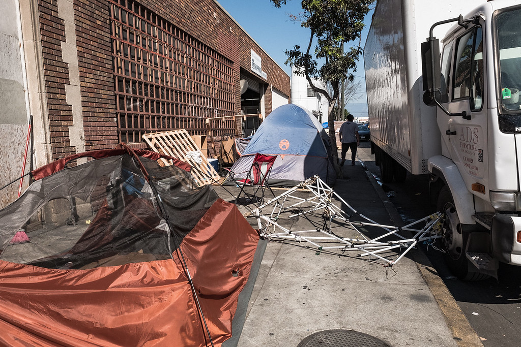 As it appears from the outside, their homestead in Skid Row reflects very little life.  This was what I saw when I showed up one morning to say hi to Doreen.