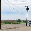A truck amongst the poles