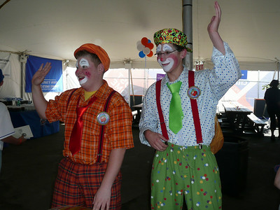 clowns at the party for the kids