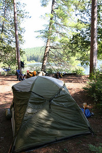Our first campsite on Whitson lake, located at the northernmost end of the lake near the Petawawa river outflow.