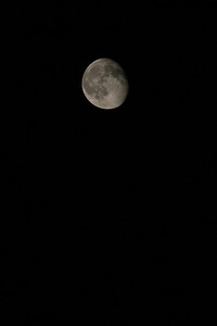 A clear night gave way to a beautiful and near-full moon sighting.