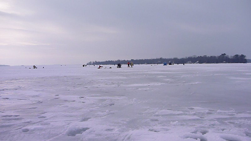 2010-Dec: Ice fishing on Lake Couchiching