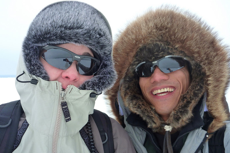 2011-Feb: Ice fishing on Lake Couchiching