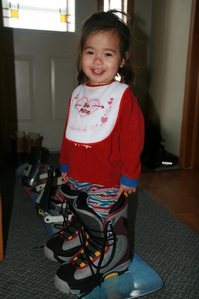 2011-Feb: Local hike w/ the new sled