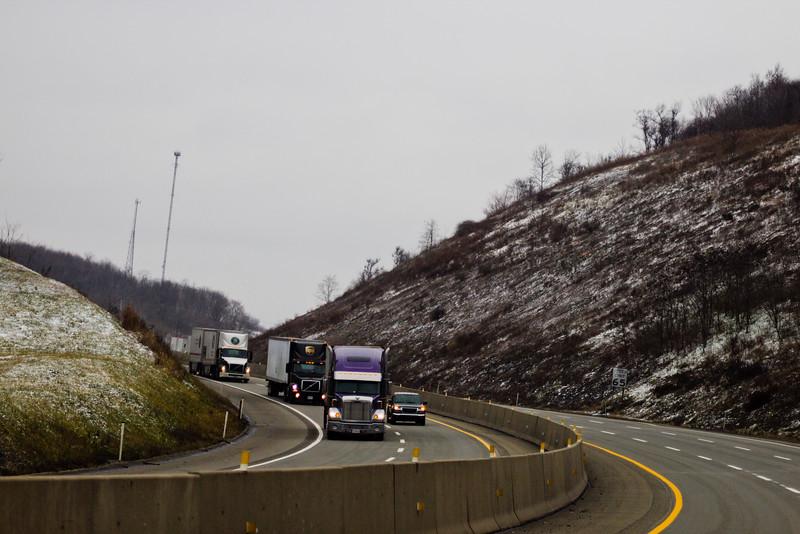 Caravan of Trucks