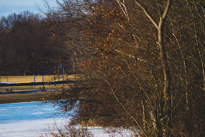 Afternoon Sunlight at Stepping Stone Falls in Flint Michigan Photograph 18