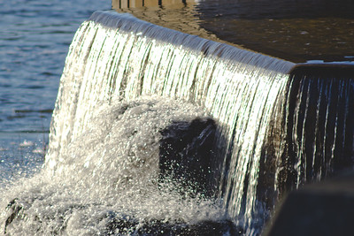 Afternoon Sunlight at Stepping Stone Falls in Flint Michigan Photograph 21