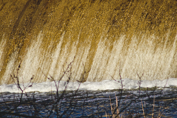 Afternoon Sunlight at Stepping Stone Falls in Flint Michigan Photograph 13