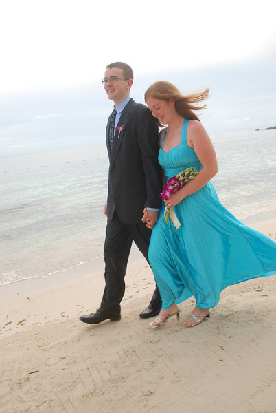 Danny Moore and Emily Lohuis at Sandals Whitehouse Resort in Jamaica