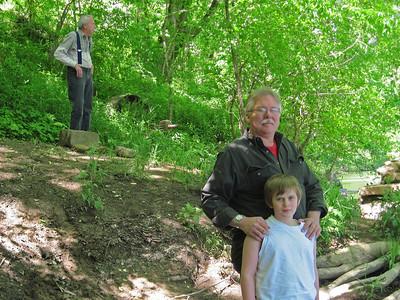 Grandpa, dad and Liam