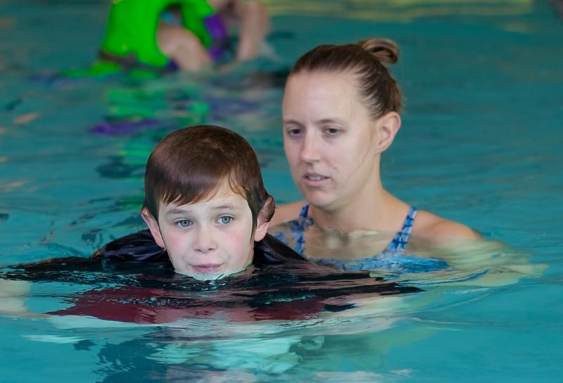 Liam Swimming Lesson with Michelle