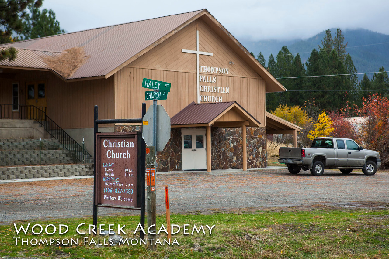 The boys attend church every Sunday in Thompson Falls. The Thompson Falls Christian Church.