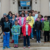 Students from the life-skills classroom at Samoset School visit with Mayor Dean Mazzarella during a tour of City Hall as part of Autism Awareness Month on Wednesday, April 5, 2017. SENTINEL & ENTERPRISE / Ashley Green