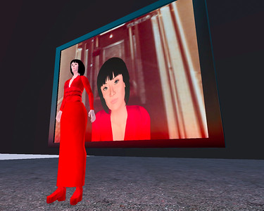 """Life-Squared"" - an archival work in the synthetic world Second Life. Lynn Hershman Leeson and Stanford Humanities Lab, directed by Michael Shanks and Henry Lowood."