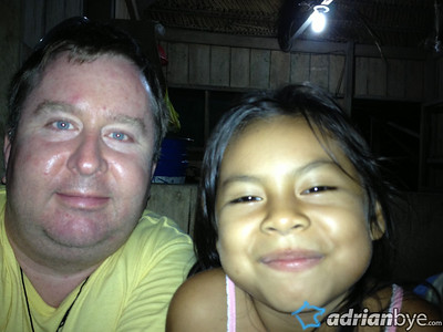 We stayed with a family including this 5 year old named Adriana.  She insisted on talking to me constantly.. I couldn't get her to stop.  By the time we were leaving I knew I would miss her terribly.  She was a very sweet girl.