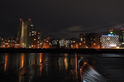 city lights, calm nights
