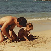 Making sandcastles with Dad.