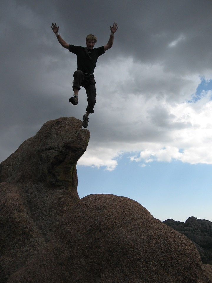I can't slam dunk, but I can jump impossible gaps on rocks!