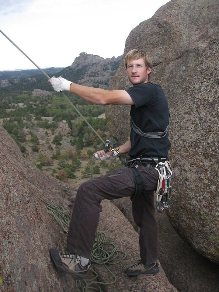 Your friendly belayer, tips greatly appreciated.