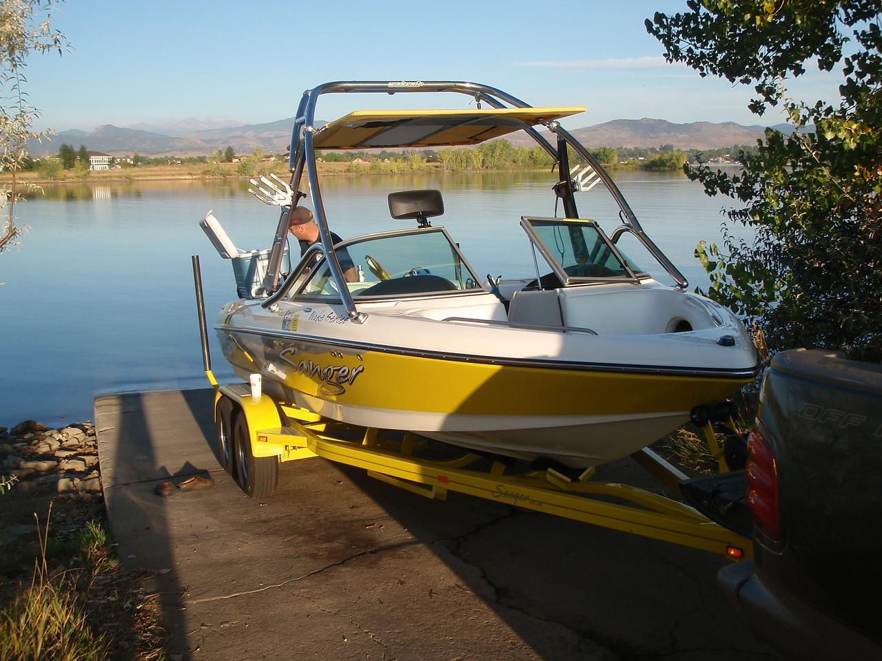 Matt's boat, pretty sweet!
