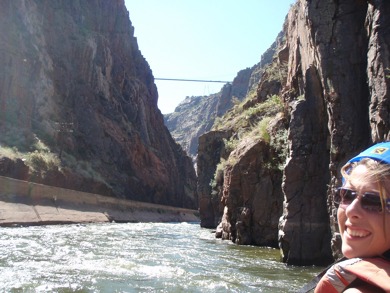 The Royal Gorge Bridge. It is the highest suspension bridge in the world at 1,053'.