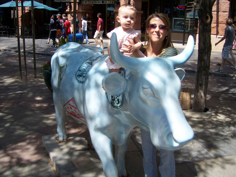 Doing some shopping at the 16th Street Mall in Denver.