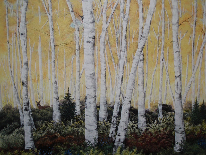 The days I had to be at work, Rachel would stay home and work on this Aspen forest mural on my bedroom wall. It turned out so good!