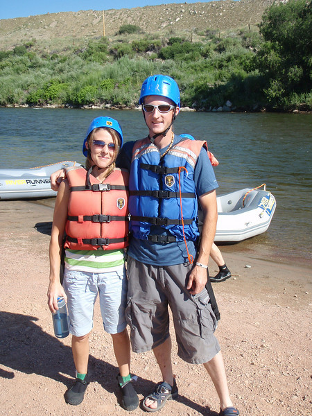 Whitewater rafting the Arkansas River through the Royal Gorge.