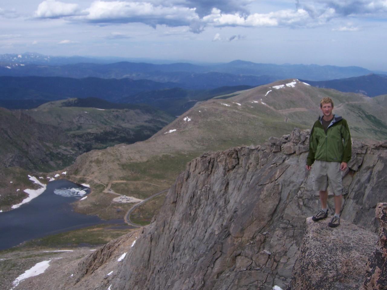 Summit Lake below