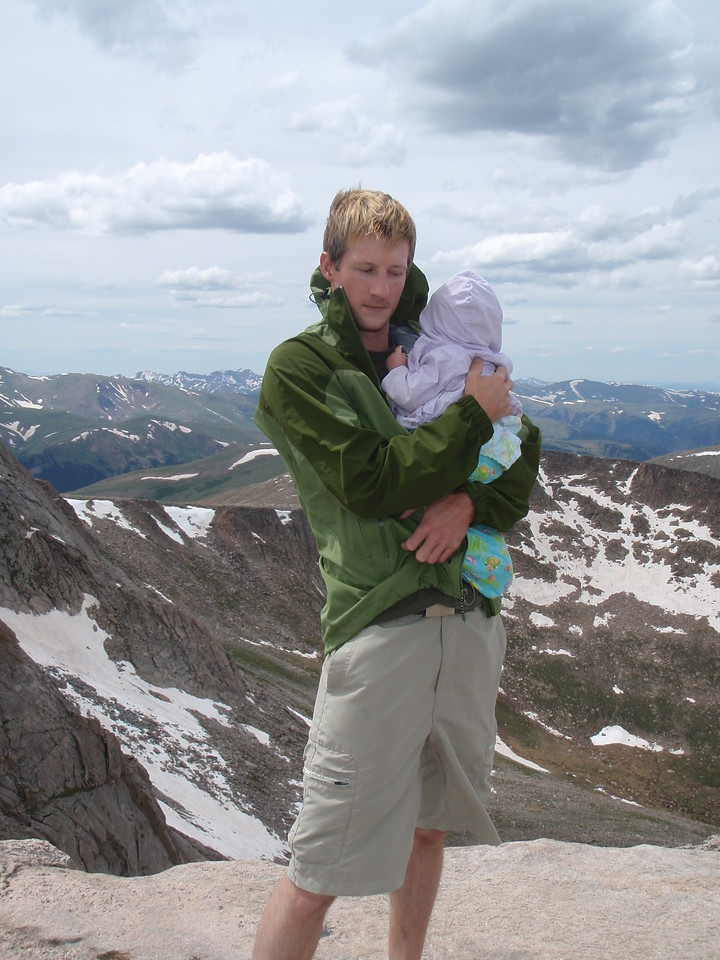 How many 8 month old girls from Michigan have been to 14,264' - at least one!