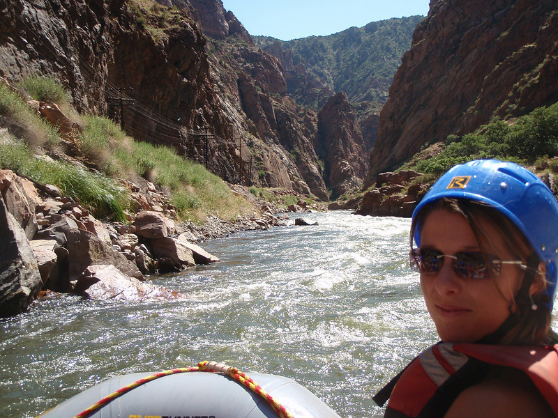 These pictures were taken at calmer sections of the river. I have to help paddle through the rapids.