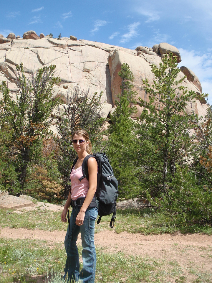 Vedauwoo, Wyoming. I love this place. We are about to climb Edward's Crack, directly above Ray's head in the photo.