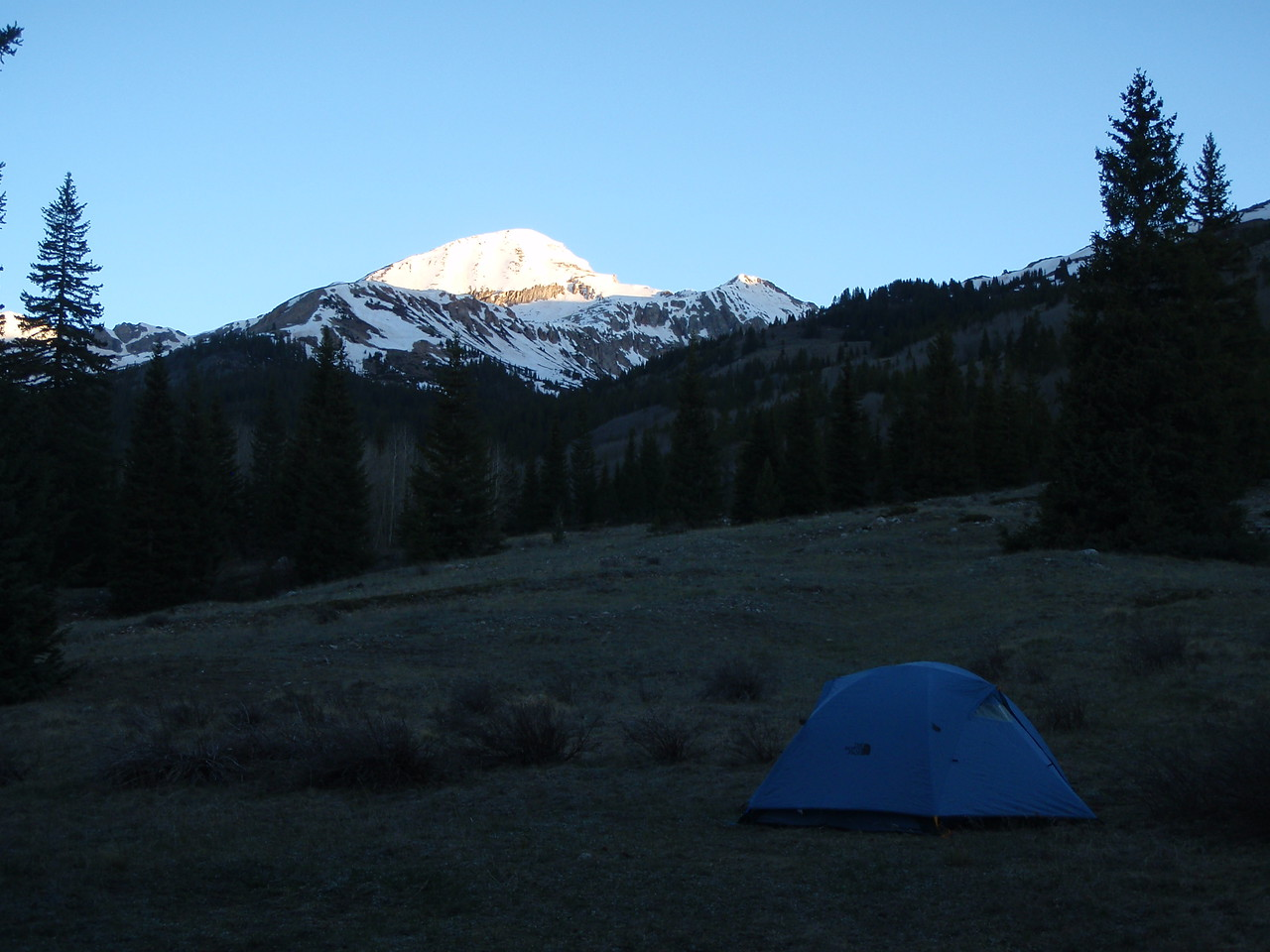 Morning the day after rafting. About to hike a 14er - La Plata Peak.