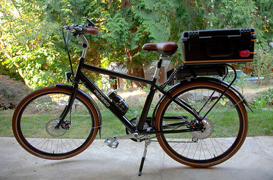 My very stylish, slick, cool, Pedego Classic City Commuter. I love this bike! If you are really interested you can read my full review on Amazon