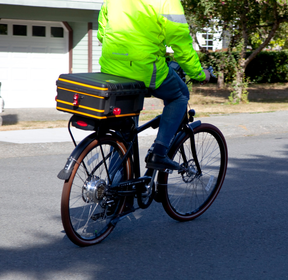 "Here I am riding my Pedego Classic City Commuter. Lots more of me and the bike in motion in <a target=_blank  href=""http://www.danielmoorephoto.com/Bicycle/"">BICYCLE ADVENTURES</a>."