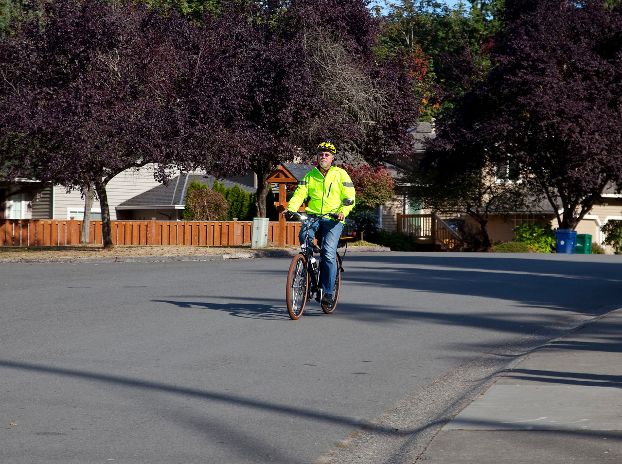 Another picture of me riding my Pedego Classic City Commuter
