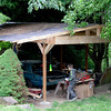 This is a pretty good view of the carport we built last summer so we'd have a place to work on the Thunderbird.