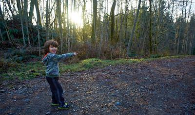 Hiking Taylor Mountain - January 3rd 2014