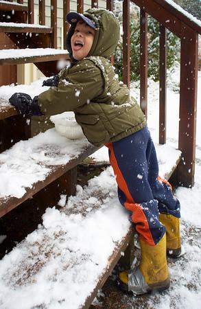 It's snowing!  January '11