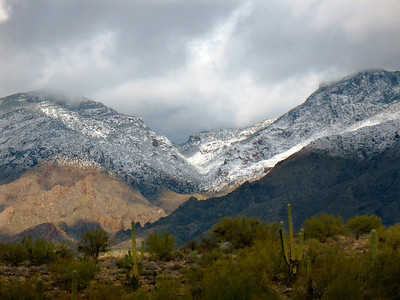 Snow in Tucson!