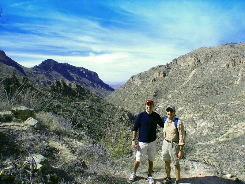 031211: Chris and I on Phoneline Trail. Roughly 3.8 miles within Sabino Canyon.