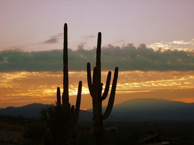 10/04/05 - Sunrise taken from Sabino Mountain