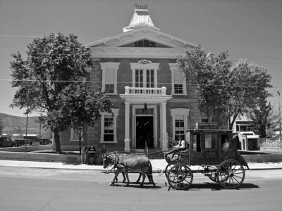 This 1882 Tombstone Courthouse housed the sheriff's and other Cochise County government offices. In the back was the jail, alongside a gallows.