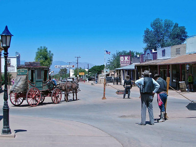As you can clearly see, the traffic as well as the hussle and bussle of downtown Tombstone, are managed in a peaceful and orderly fashion.