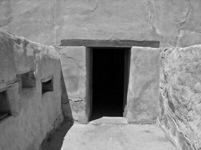 One of the side doorways exiting the mission.